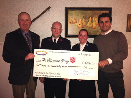 Berks-Schuylkill Oil Heat Association Donates $5,350 to the Salvation Army