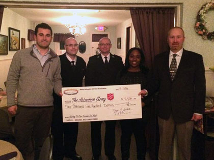 Berks-Schuylkill Oil Heat Association Donates $4,500 to the Salvation Army